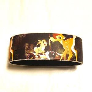 NWOT Hot Topic Bambi Disney Rubber Bracelet